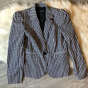 Who What Wear Gingham Blazer